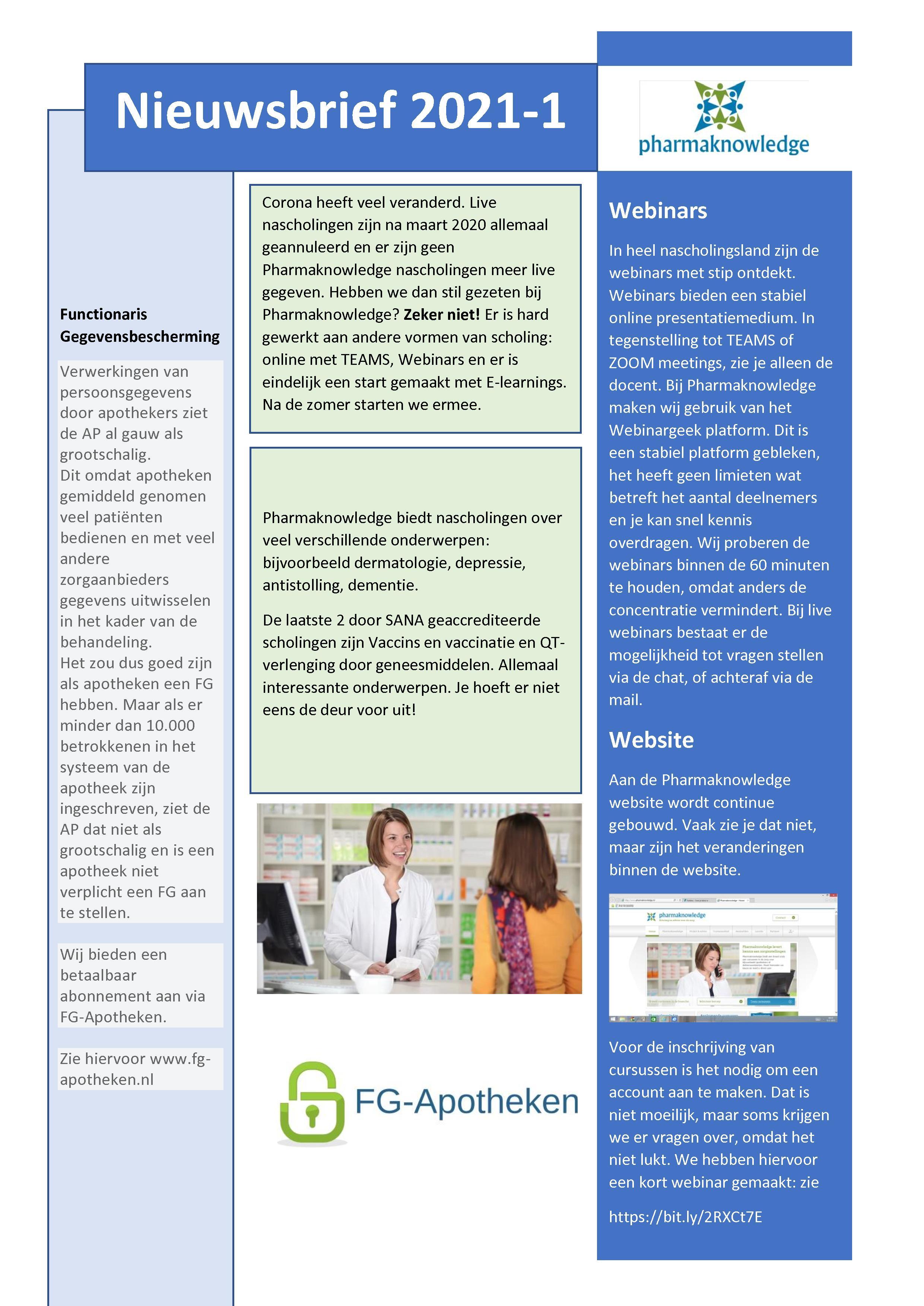 Lees de Pharmaknowledge nieuwsbrief
